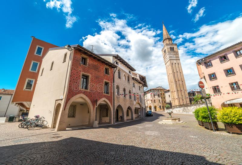 Pordenone, het gebied van Friuli Venezia Giulia, Italië royalty-vrije stock foto's