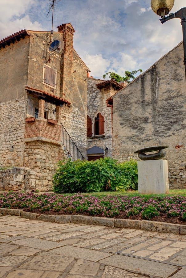 Porec, старый городок стоковое фото
