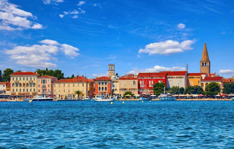 Porec, Croatie Tour antique de la vieille ville photos stock
