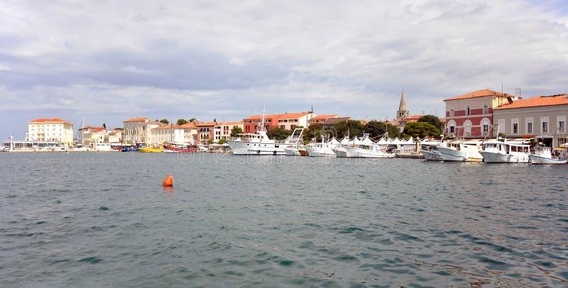 Porec harbor stock images