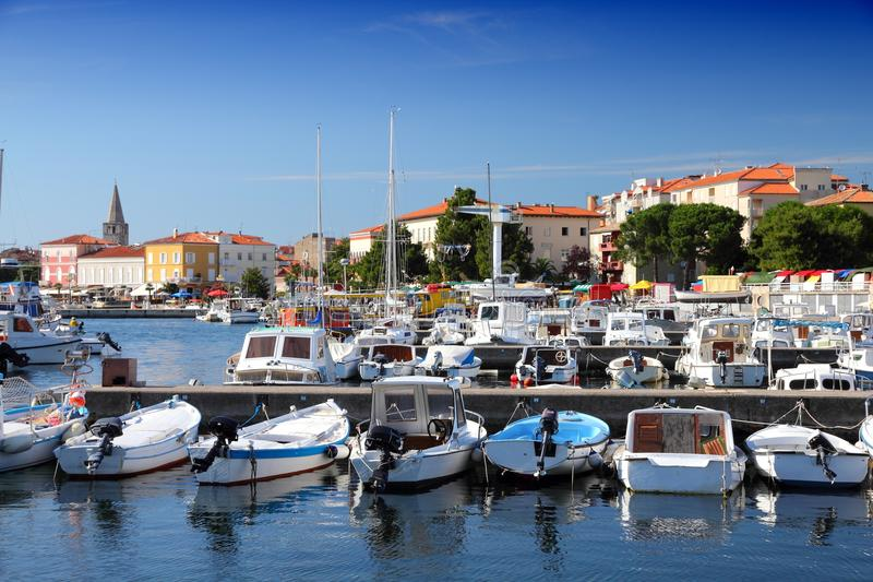 Porec, Kroatien lizenzfreie stockfotos
