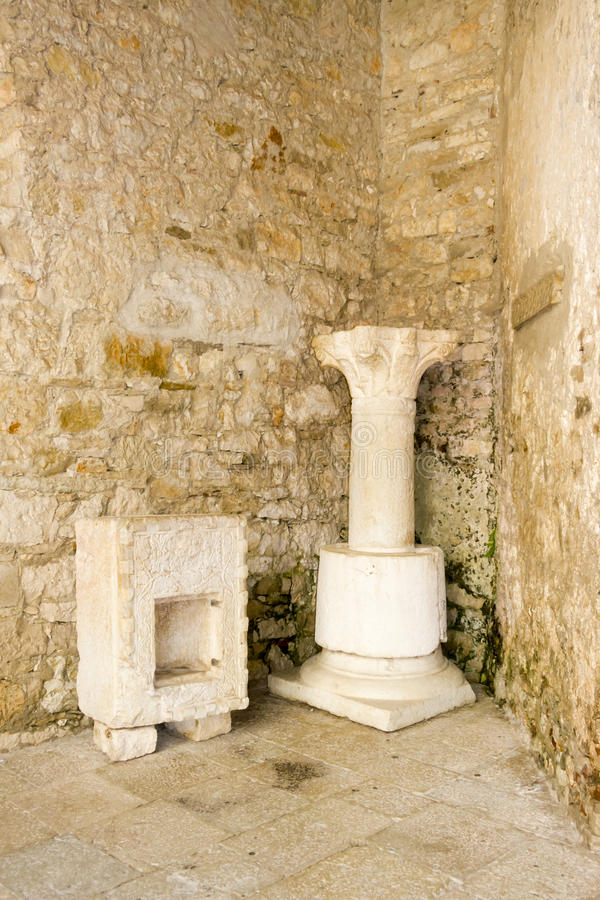 Porec op Istria-schiereiland. Euphrasianbasiliek - UNESC royalty-vrije stock afbeelding