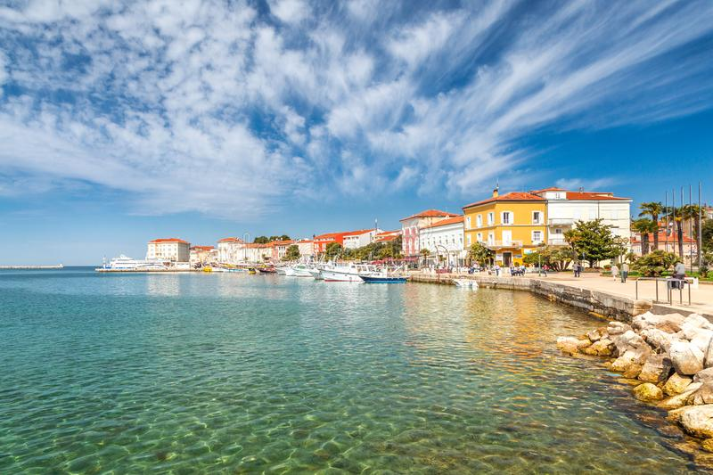 Porec town and harbor on Adriatic sea in Croatia. Porec town and harbor on Adriatic sea in Croatia, Europe royalty free stock images