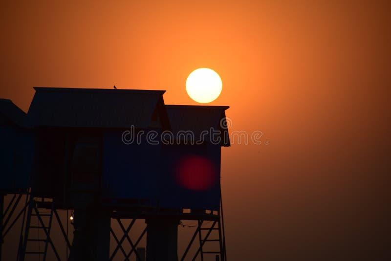 Pores do sol apenas uau imagens de stock royalty free