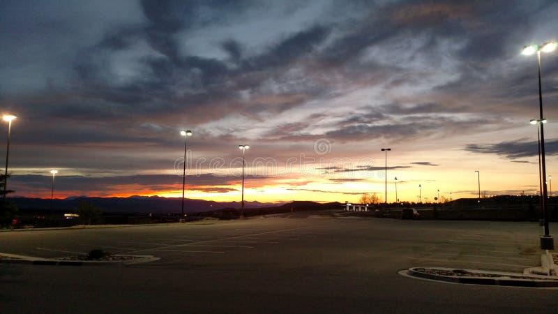 Pores do sol de Colorado fotografia de stock