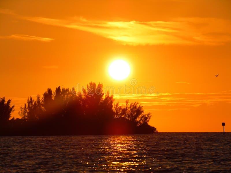 Pores do sol de Florida imagens de stock