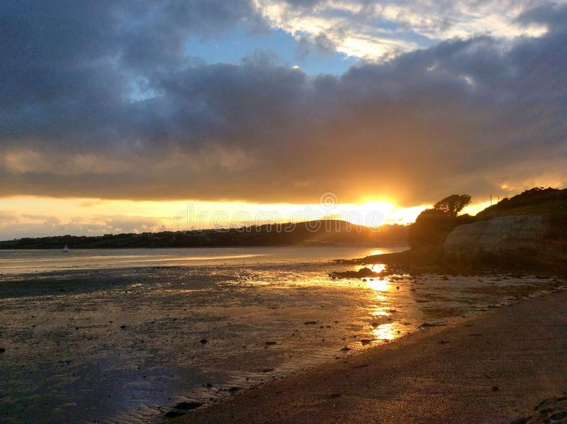 Pores do sol do campo da Irlanda foto de stock royalty free