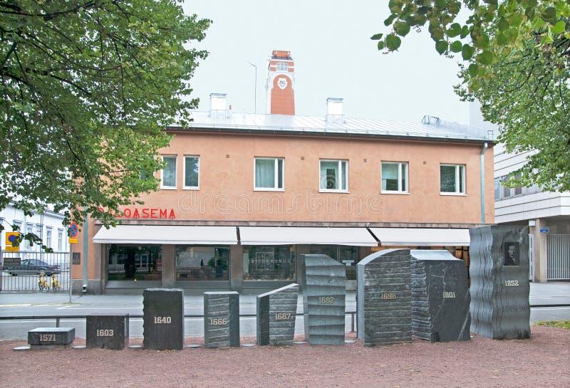 Pori finland Quartel dos bombeiros fotografia de stock royalty free