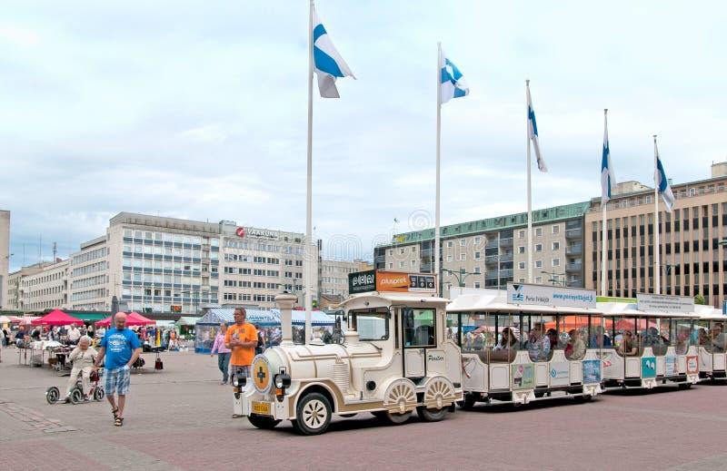 Pori finland Trem do divertimento do turista fotos de stock royalty free