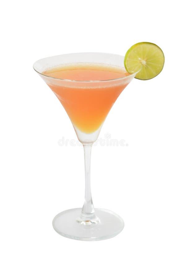 Poritan Cocktails und Alkohol Cosmo auf weißem Hintergrund lizenzfreie stockfotos
