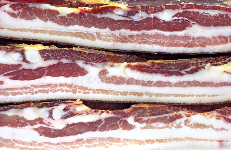 Download Pork Bacon stock image. Image of dried, striped, pork - 39514879