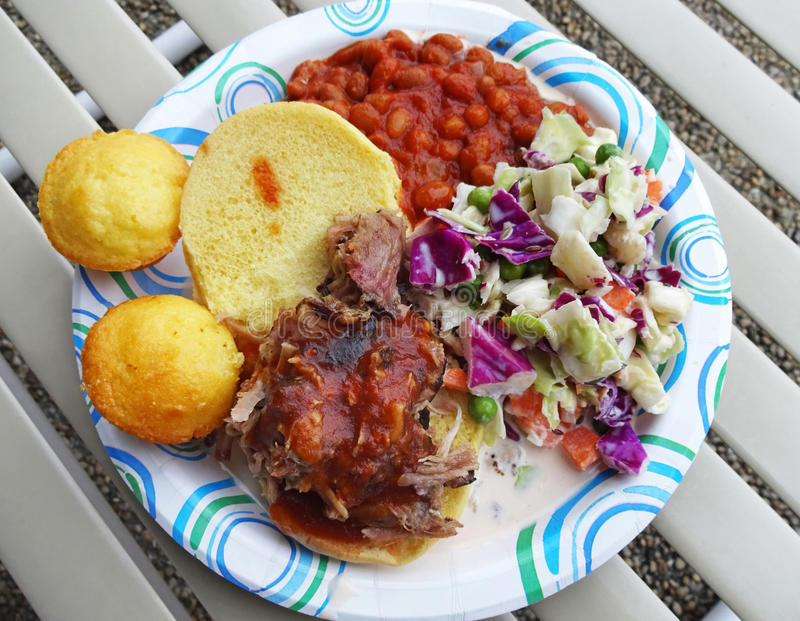 Pork Barbecue and Sides royalty free stock photo