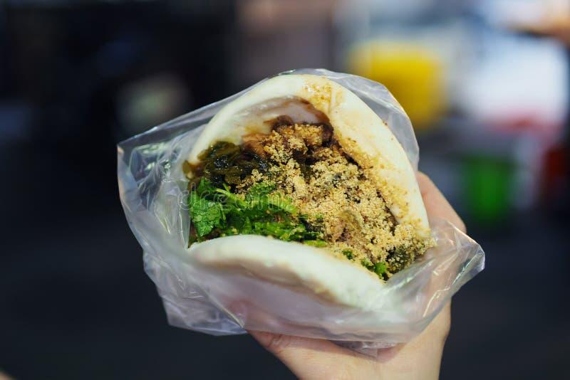 Pork belly gua bao royalty free stock photos