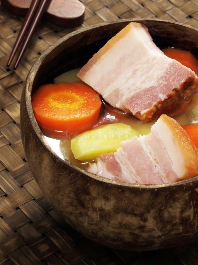 Pork belly stew royalty free stock image