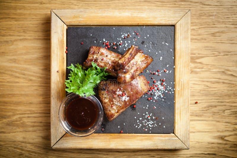 Pork breast on rib royalty free stock image