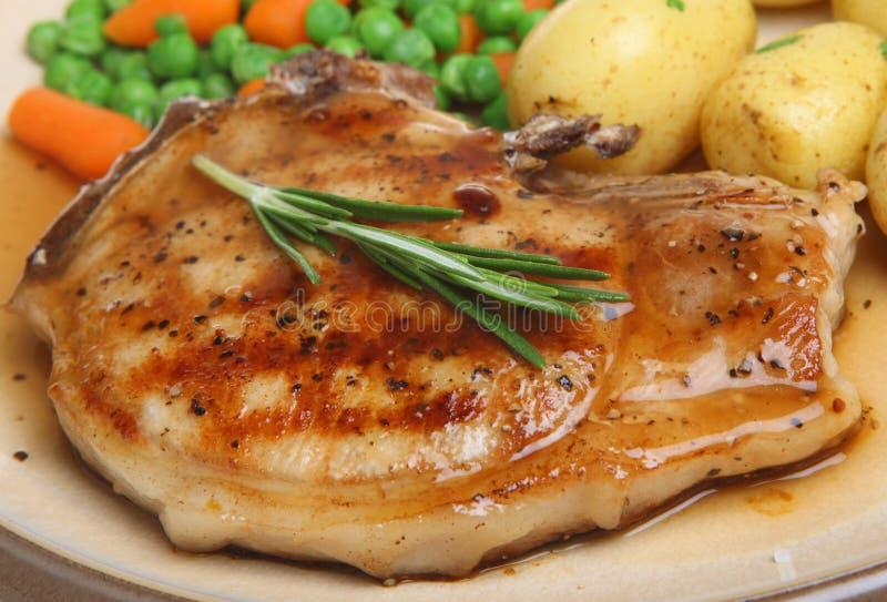 Pork Chop With Gravy Royalty Free Stock Photos
