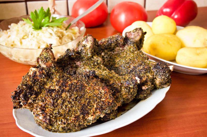 Download Pork chops stock photo. Image of delicious, pepper, cooking - 20687014