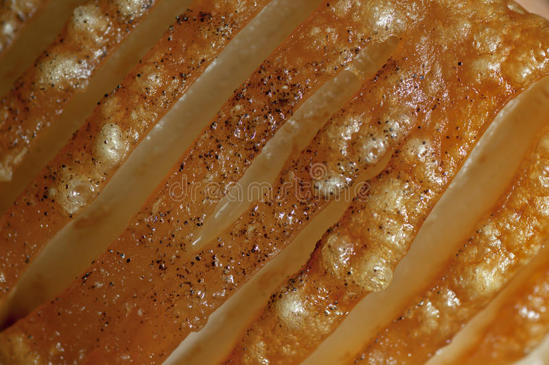 pork crackling royalty free stock image