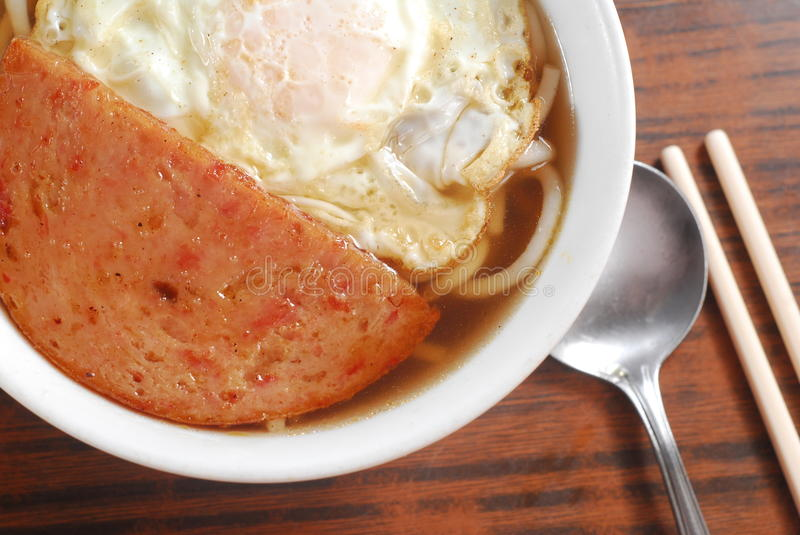 Download Luncheon Pork And Egg Noodle Stock Image - Image of food, cuisine: 20997897