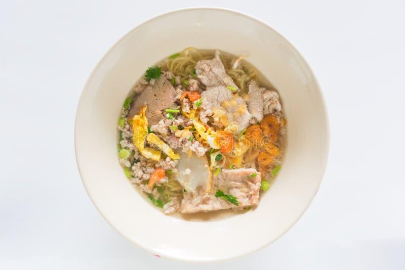 Pork noodles thai style , Thai food stock photography
