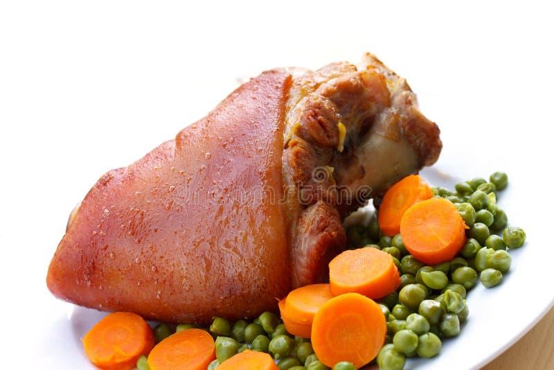 pork för knoge för bavarianmorot grillad ny royaltyfria foton