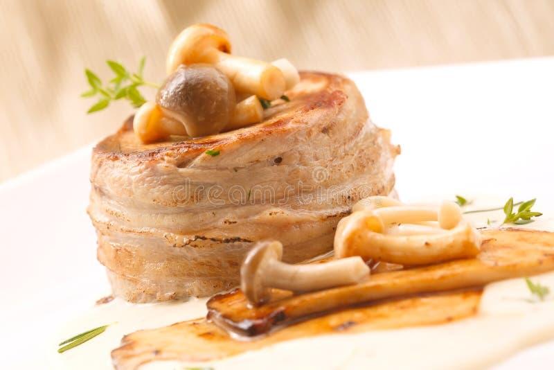 Pork Fillet Mignon steak stock photos