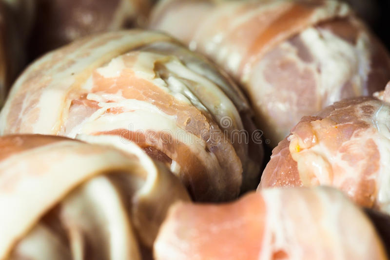Download Pork Fillets Rolled In Bacon Stock Photo - Image: 33628084
