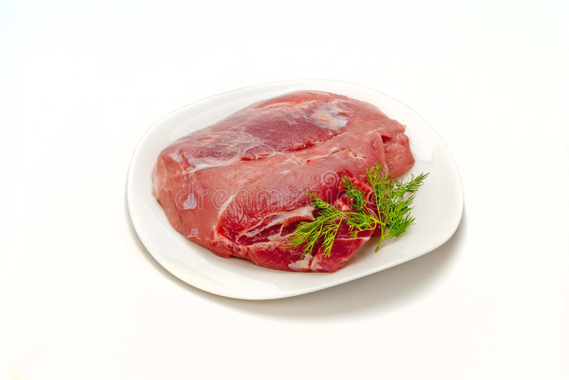 Download Pork gammon for cooking stock image. Image of protein - 26345151