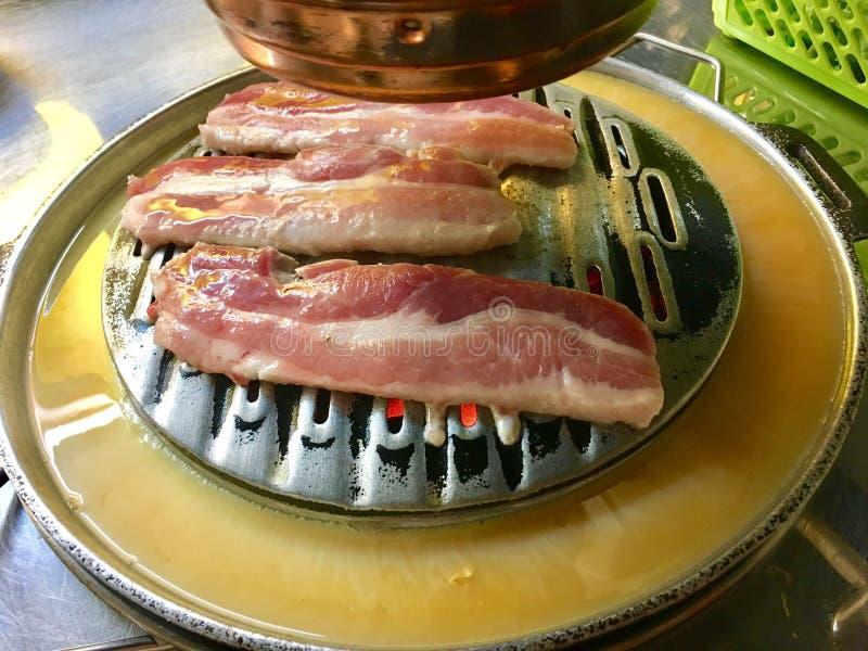 Pork grilled. Korean food delicious stock photos