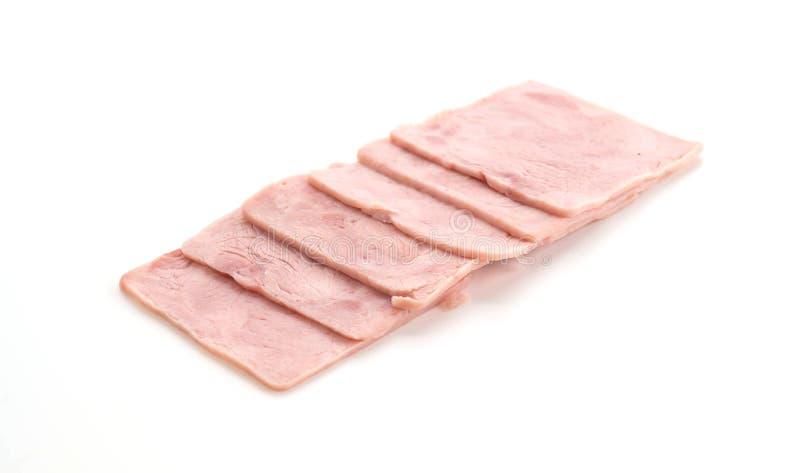 Pork ham. On white background stock images