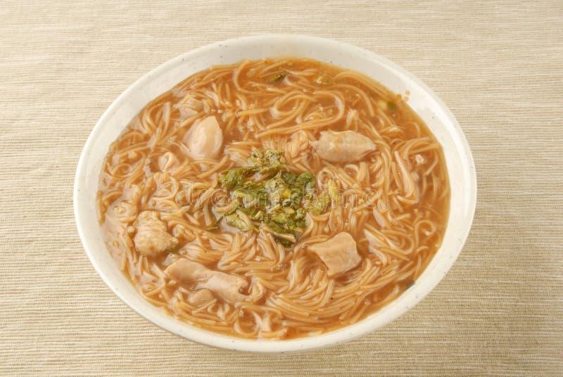 Pork intestine thin noodle. Taiwan famous food - pork intestine thin noodles stock image