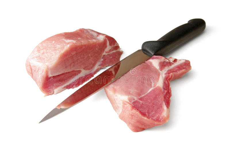 Download Pork and knife stock photo. Image of horizontal, muscle - 18104578