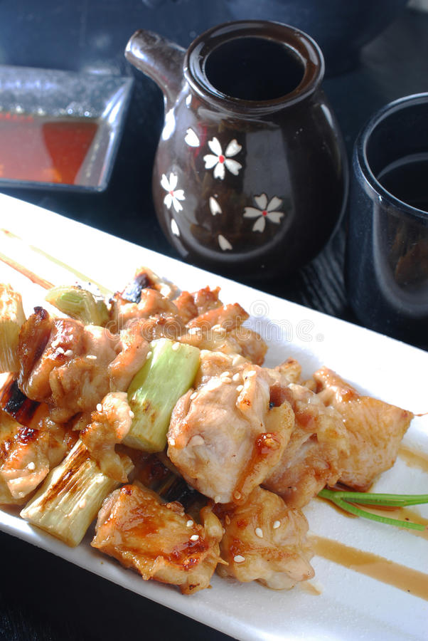 Download Pork leek skewer stock photo. Image of grill, food, sauce - 24781986