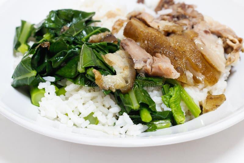 Pork Leg With Rice Stock Photos