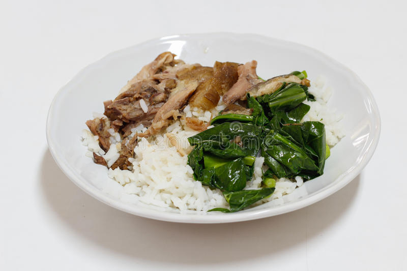 Download Pork leg with rice stock image. Image of meat, diet, china - 30513793