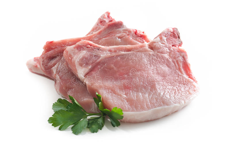 Download Pork loin chops stock photo. Image of animal, meat, stack - 18616192