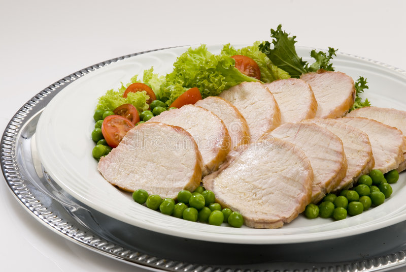 Pork loin roast stock photos