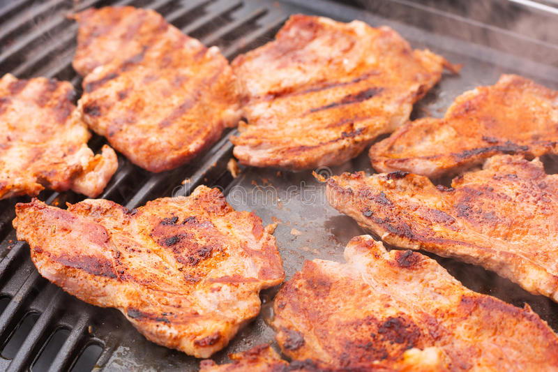 Download Pork meat on barbecue stock photo. Image of garden, cooked - 30895432