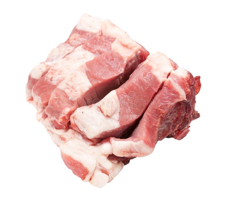 Pork meat on a white background royalty free stock photography