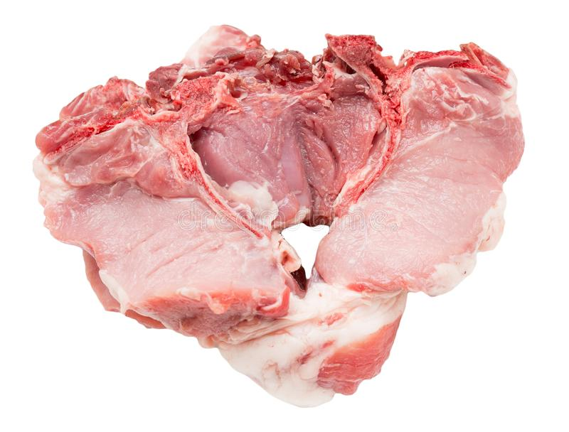 Pork meat on a white background stock photo