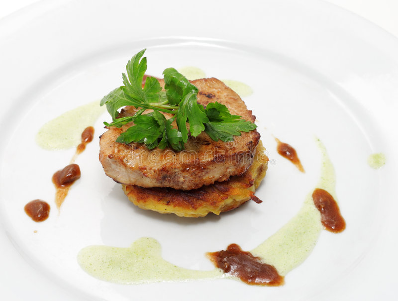 Download Pork Medallions stock image. Image of meat, grill, green - 7988903