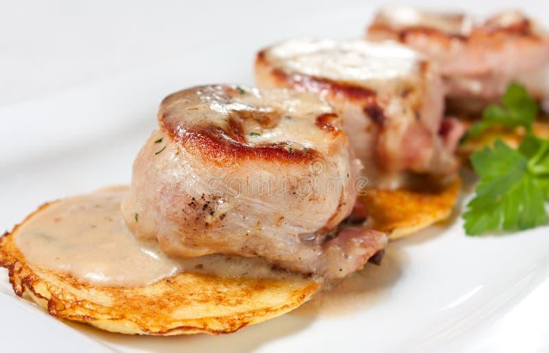 Download Pork Medallions With Potato Pancake Stock Image - Image: 23442921