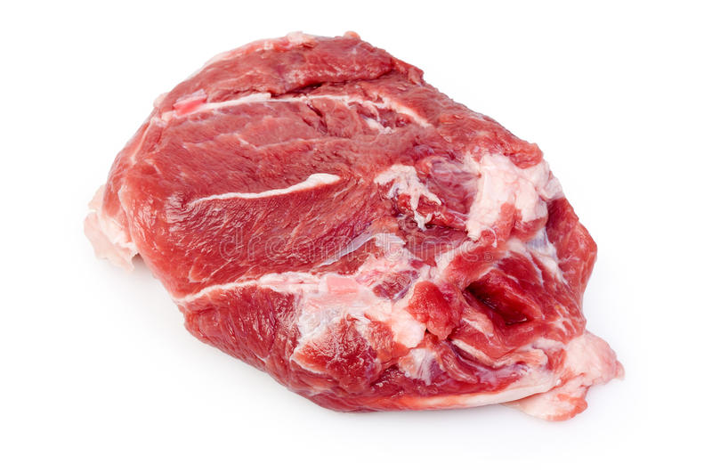 Pork neck stock image