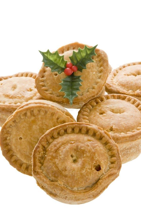 Pork pies for Christmas stock photos