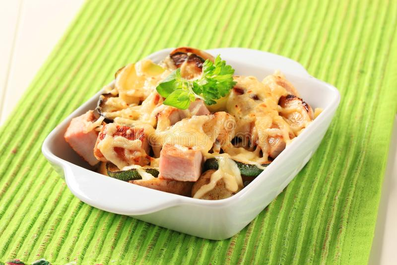 Pork and potato casserole stock photo