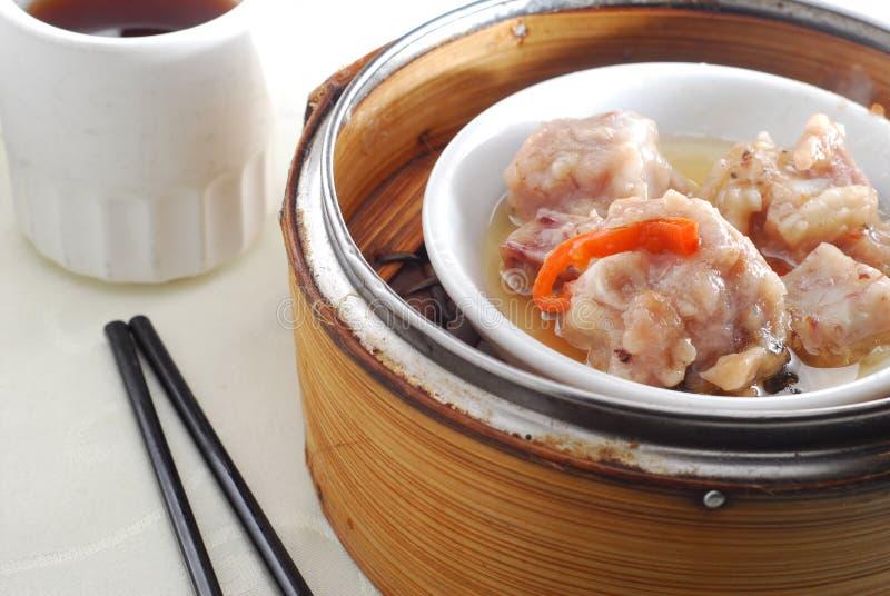 Pork rib dim sum. Steam pork rib dim sum stock photography