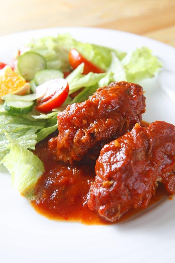 Download Pork rib with salad stock image. Image of restaurant - 11650937