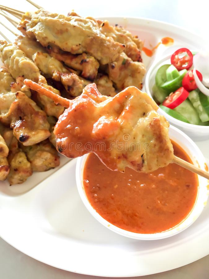 Pork Satay fotografia de stock royalty free