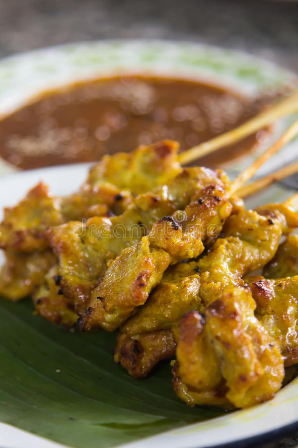 Pork Satay Stock Photo