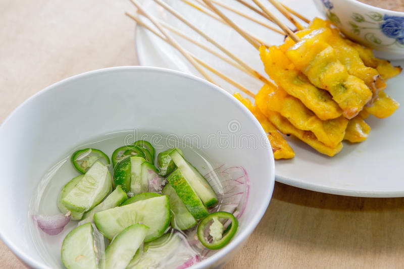 Pork satay stock images